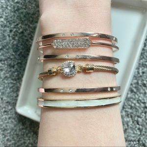 Alexis Bittar Stacking Bracelets Set w Box